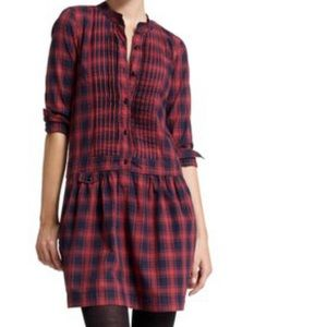 J. Crew Red Navy Casual Dress size 2